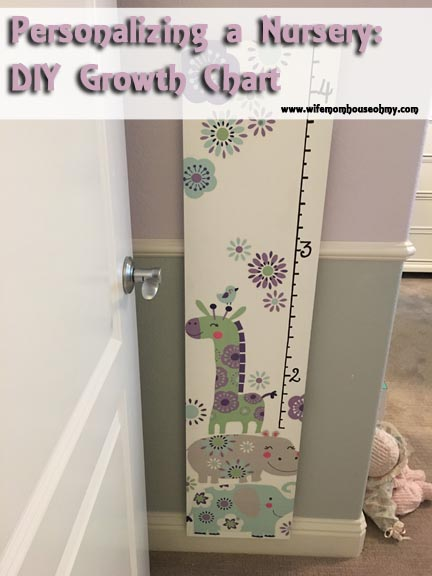 Personalizing A Nursery Diy Growth Chart